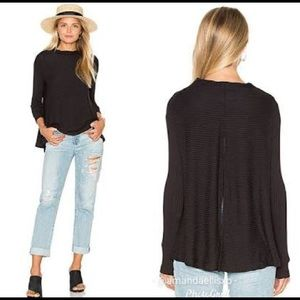 We the free black Lover Rib thermal top